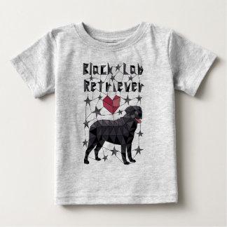 Geometric Black Lab Retriever Baby T-Shirt