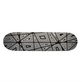 Geometric - Black on Wood Skateboards