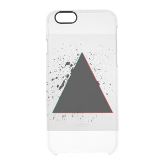 Geometric Black Triangle Paint Splatters Clear iPhone 6/6S Case