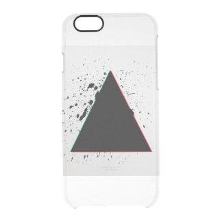 Geometric Black Triangle Paint Splatters Clear iPhone 6/6S Case