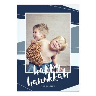 Geometric Block | Happy Hanukkah Card