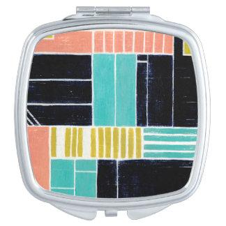 Geometric Blocks Vanity Mirror