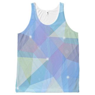 Geometric Blue, All-Over Print Tank Top