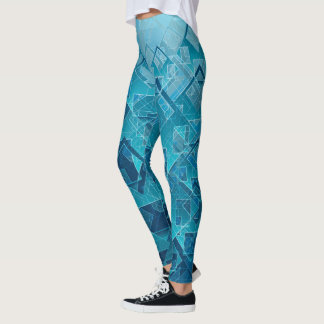 Geometric Blue Jive Leggings