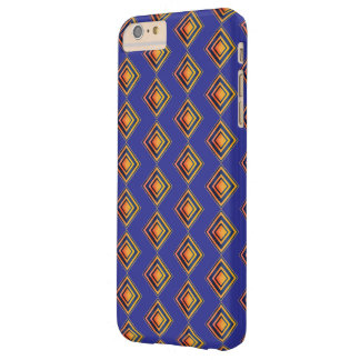 Geometric Blue Pattern and Golden iPhone Case
