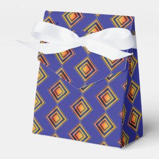 Geometric Blue Pattern Wedding favor Box