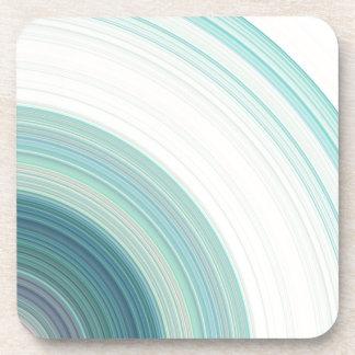 Geometric Blue Rings Coaster