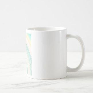Geometric Blue Rings Coffee Mug