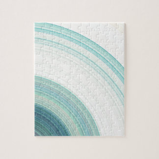 Geometric Blue Rings Jigsaw Puzzle