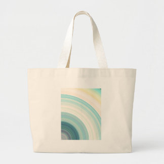Geometric Blue Rings Large Tote Bag