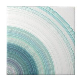 Geometric Blue Rings Tile