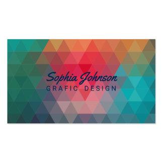Geometric Blue Teal Pink Orange Modern Pack Of Standard Business Cards
