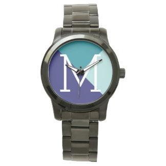 geometric blue to add initial watch