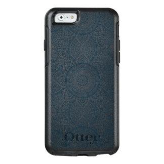 Geometric blue white floral mandala OtterBox iPhone 6/6s case