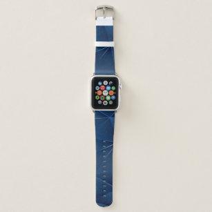 Geometric Blues Pattern Masculine Personalised Apple Watch Band