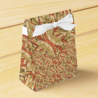 Geometric Bold Cubism Pattern Favour Box