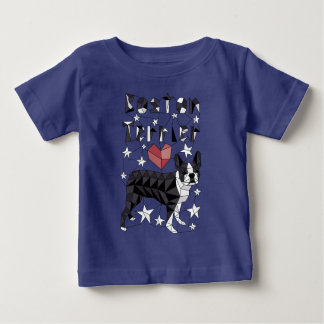 Geometric Boston Terrier Baby T-Shirt