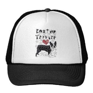Geometric Boston Terrier Cap