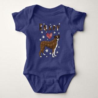 Geometric Boxer Baby Bodysuit