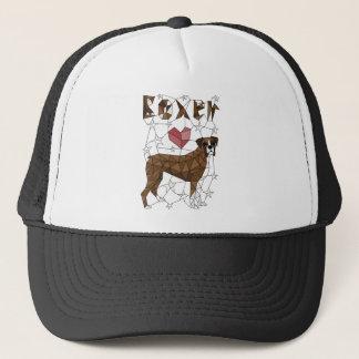 Geometric Boxer Trucker Hat