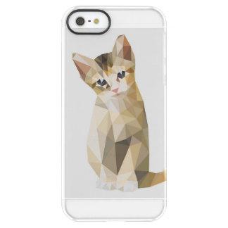 Geometric brown cat sitting permafrost® iPhone SE/5/5s case