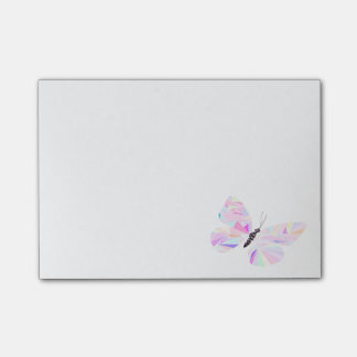 Geometric butterfly post-it notes
