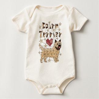 Geometric Cairn Terrier Baby Bodysuit