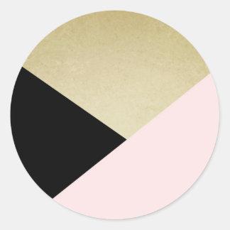 Geometric Cards Blank Stationery Round Sticker