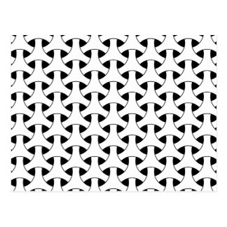 Geometric Celtic Repeating Pattern Modern Post Card