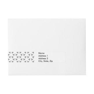 Geometric Celtic Repeating Pattern Modern Wraparound Address Label