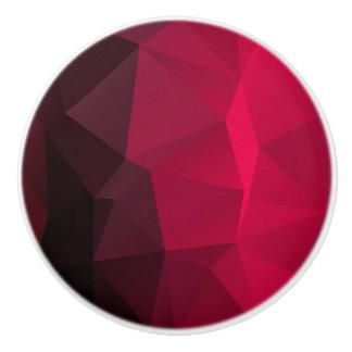 Geometric Cherry Crystal Fractal pattern Ceramic Knob