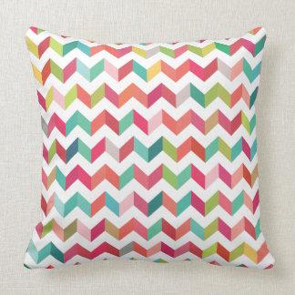 Geometric Chevron Arrow Triangles Pattern Cushion