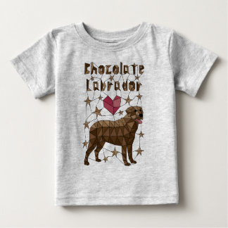 Geometric Chocolate Labrador Retriever Baby T-Shirt