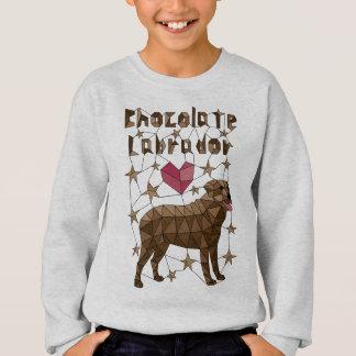 Geometric Chocolate Labrador Retriever Sweatshirt