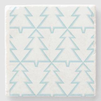 Geometric Christmas Stone Coaster