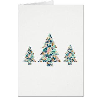 Geometric Christmas Tree Card