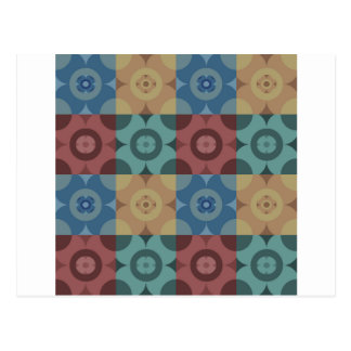 Geometric Circle Repeatable Pattern Postcard