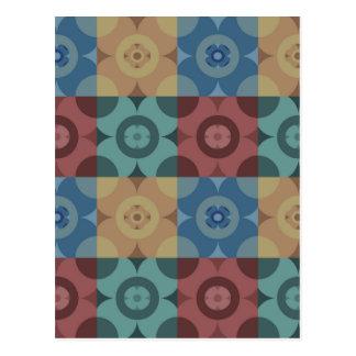 Geometric Circle Repeatable Pattern Postcard