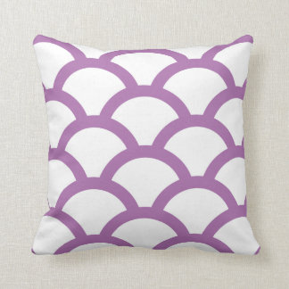 Geometric Circles Pillow in Radiant Orchid