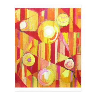 Geometric Circus (Geometric expressionism) Post Card