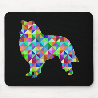 Geometric Collie Mouse Pad
