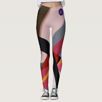 geometric-color leggings