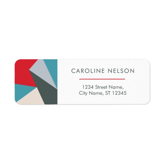 Geometric Colourful Modern Abstract Address Labels