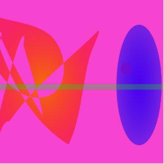 Geometric Contrast Pink Photo Sculpture Decoration
