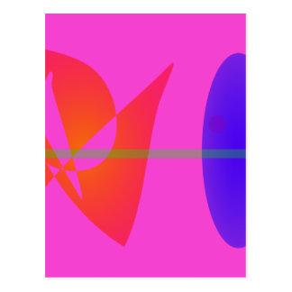 Geometric Contrast Pink Postcard