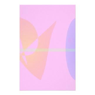 Geometric Contrast Pink Stationery Design