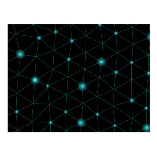 Geometric Cosmic Web Pattern Postcard