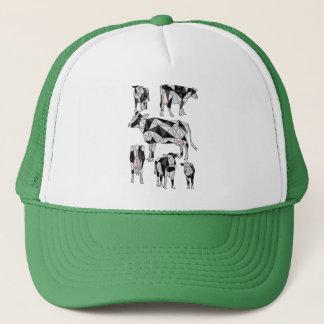 Geometric Cows Trucker Hat