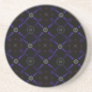 Geometric Crop Circles Drink Coaster