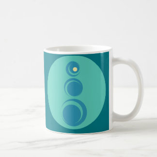 Geometric curves coffee mug